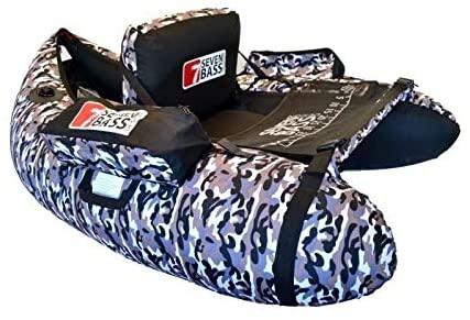 Float tube seven bass heko 130 en mode camouflage.