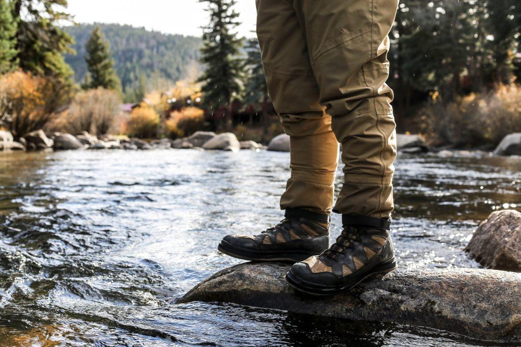 équipement float tube : chaussure de pêche